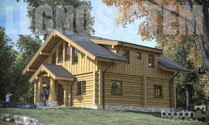 cabana busteni lemn rotund